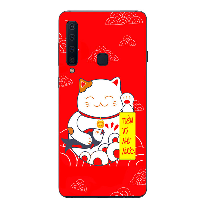 Ốp lưng Dẻo Cho Samsung Galaxy A9 2018 - Mèo may mắn 01