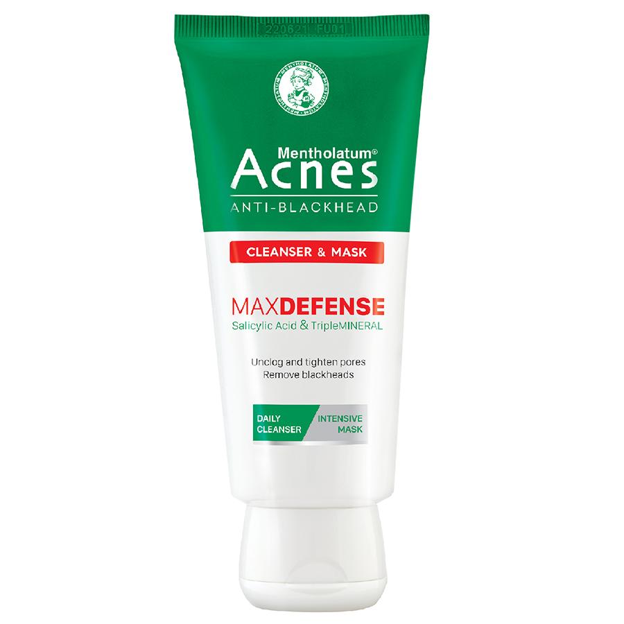Kem rửa mặt và Mặt nạ ngăn ngừa mụn đầu đen Acnes Anti-Blackhead Cleanser  Mask 100g