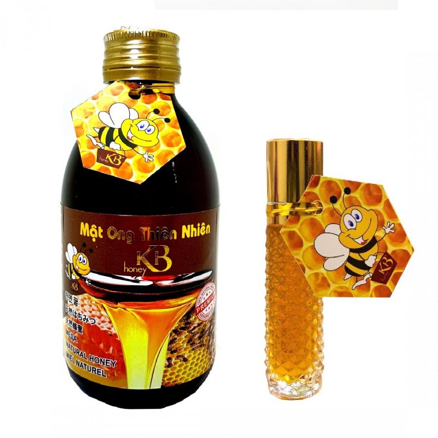 Mật ong thiên nhiên nguyên chất KB 250ml tặng thỏi mật ong dưỡng môi KB10ml