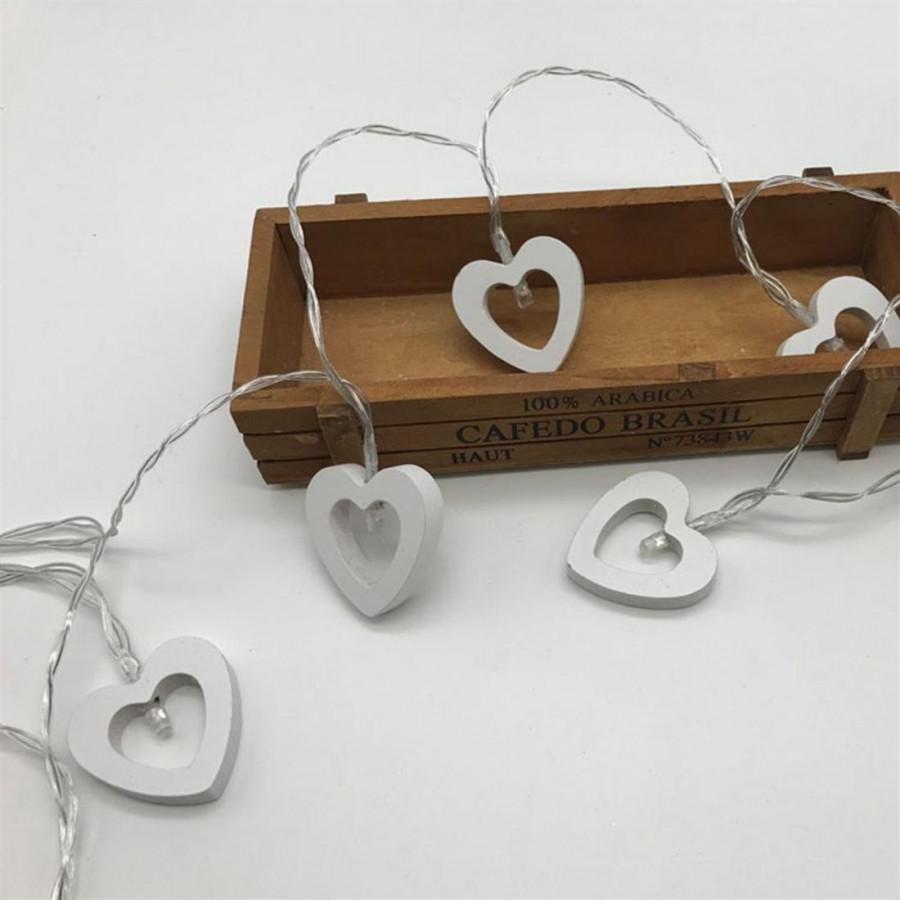 Led Wood Love Battery Lamp String 2 M 10 Lamp Warm White