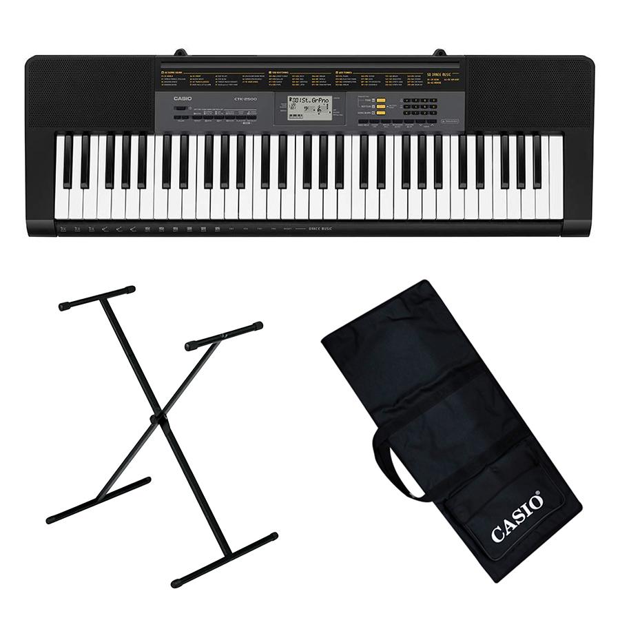 Bộ Đàn Organ Casio CTK-2500 Kèm AD Giá Nhạc Chân Bao