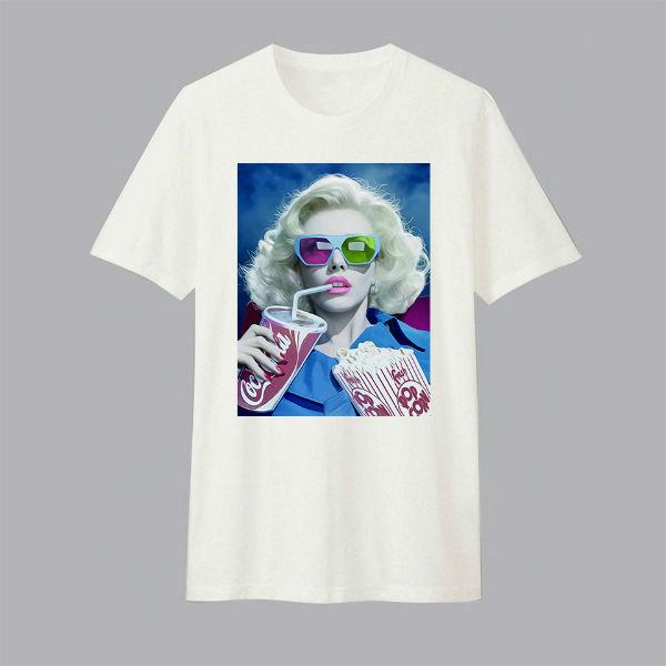 Áo T-shirt Trẻ Em Cinema Girl Dotilo HU008 - Trắng