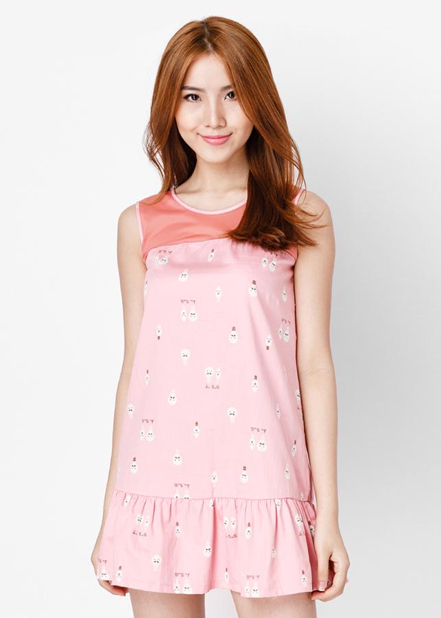 Đầm Đuôi Cá Phối Ren - Hồng Dâu - Citino