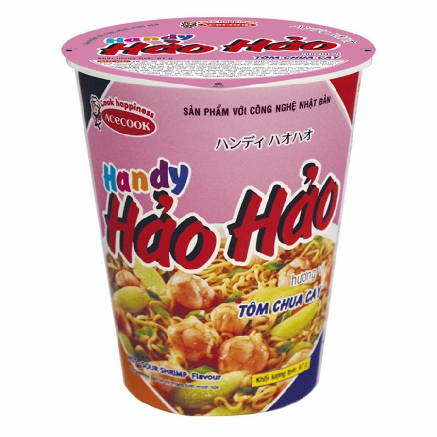 Mì Ly Hảo Hảo Handy Hương Vị Tôm Chua Cay Acecook (66g)