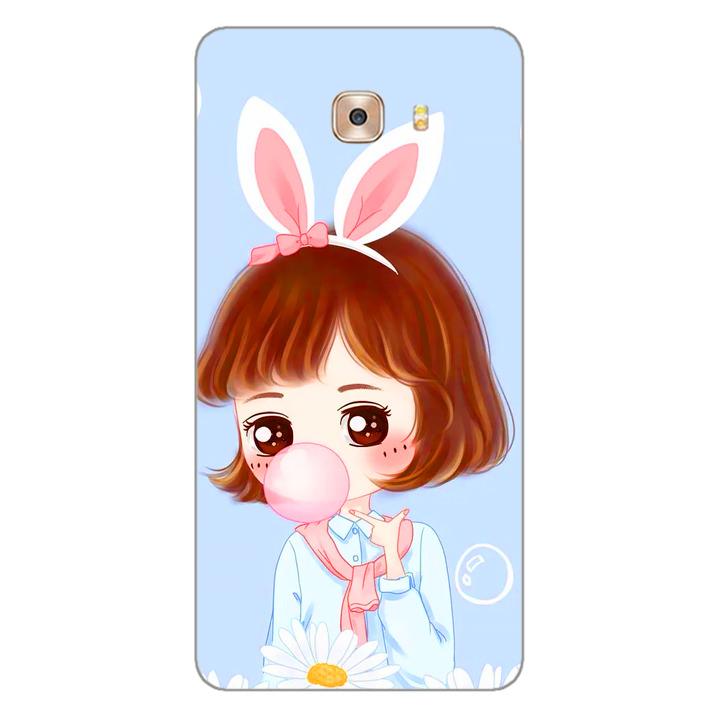 Ốp lưng dẻo cho điện thoại Samsung Galaxy C9 - Baby Girl 03