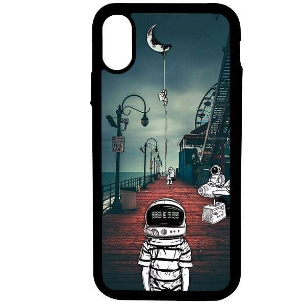Ốp lưng dành cho điện thoại Iphone X Vũ Trụ Mặt Trăng