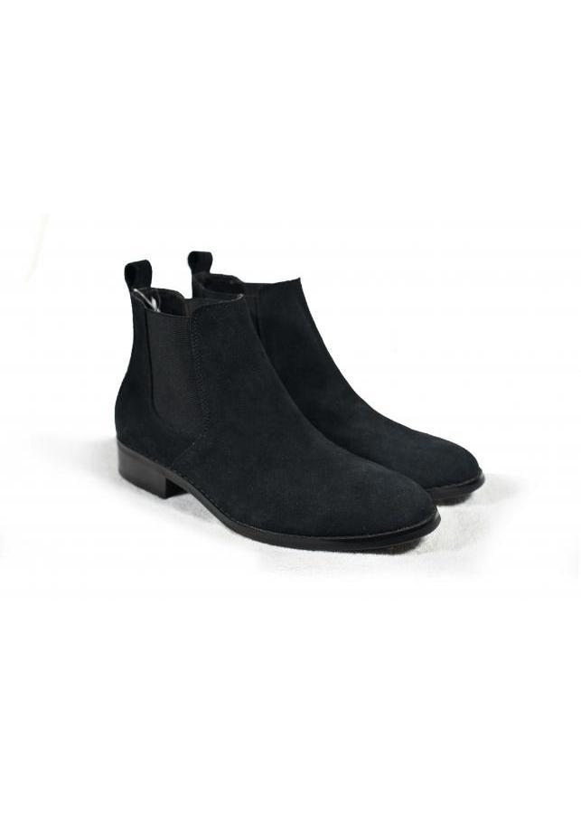 Giày Chelsea Boot Tathanium Nam Màu Đen Da Lộn TFBKS8812