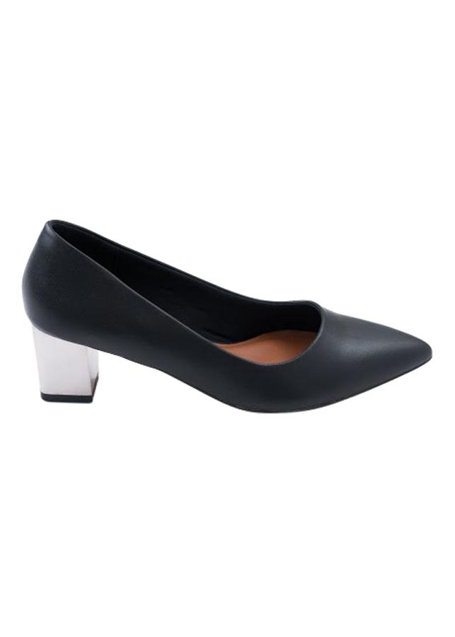 Giày Bít Mũi Nữ Gót Kim Loại B520