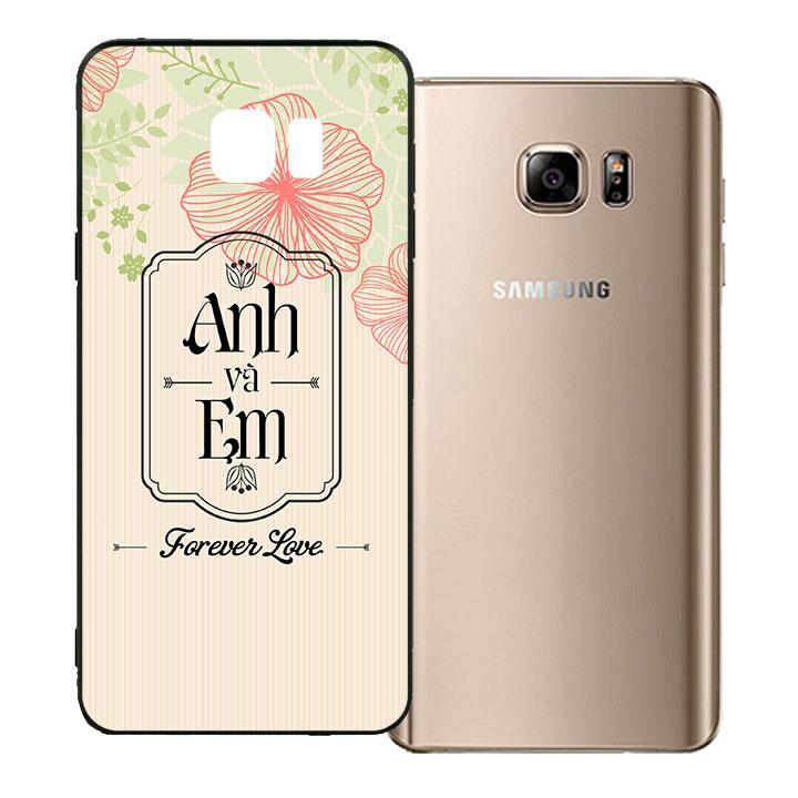 Ốp lưng viền TPU cho Samsung Galaxy Note 5 - Anh và Em