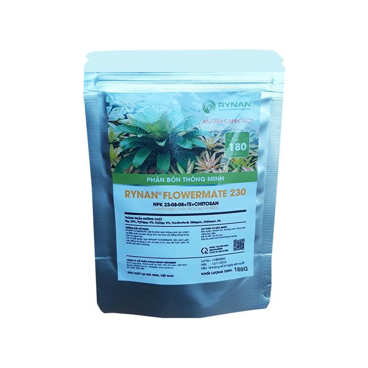 Phân Bón Thông Minh Rynan Flowermate 230 (Túi lọc 180g) - Dùng Cho Các Loại Hoa Kiểng