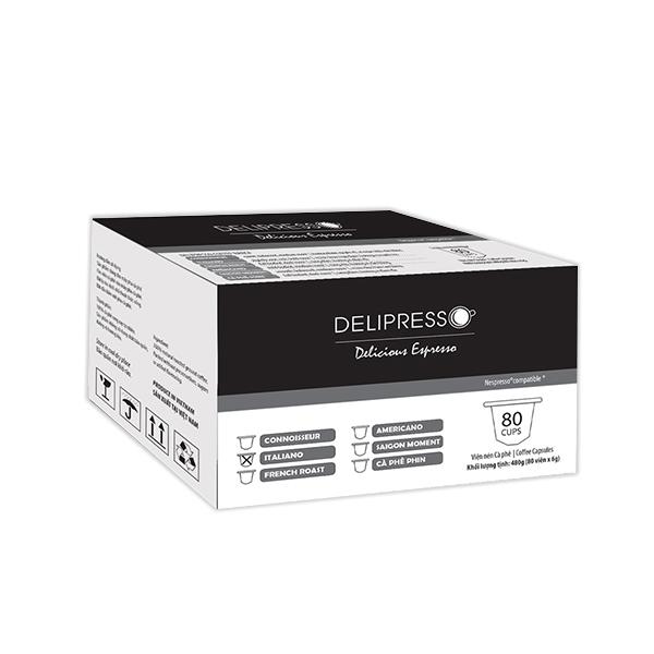 Cà phê Delipresso Italiano 80 viên x 6g -Phương Vy