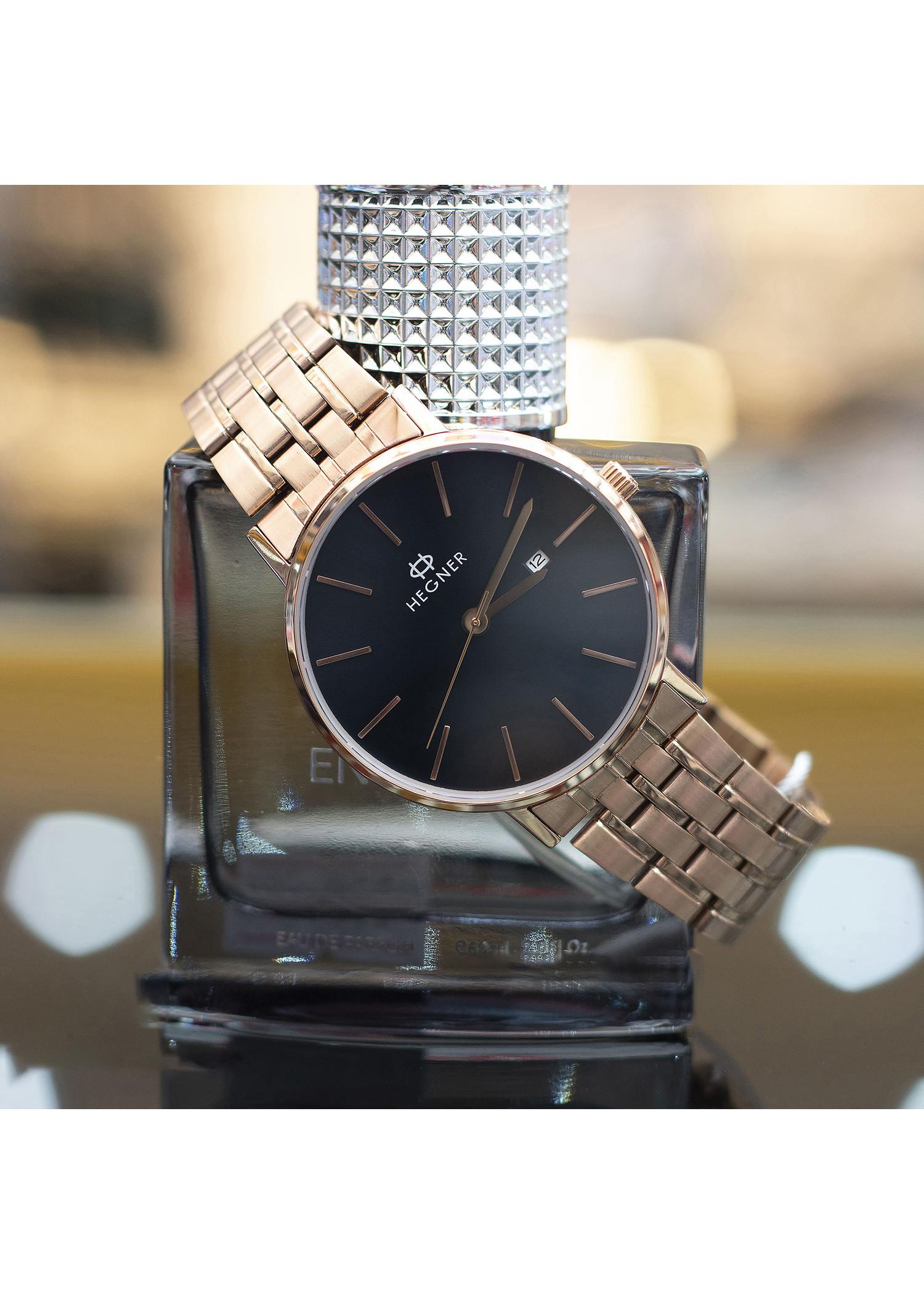 Đồng hồ nam Hegner HW-5055MRBK [Full Box] - Kính Sapphire, chống xước, chống nước - Dây thép không gỉ