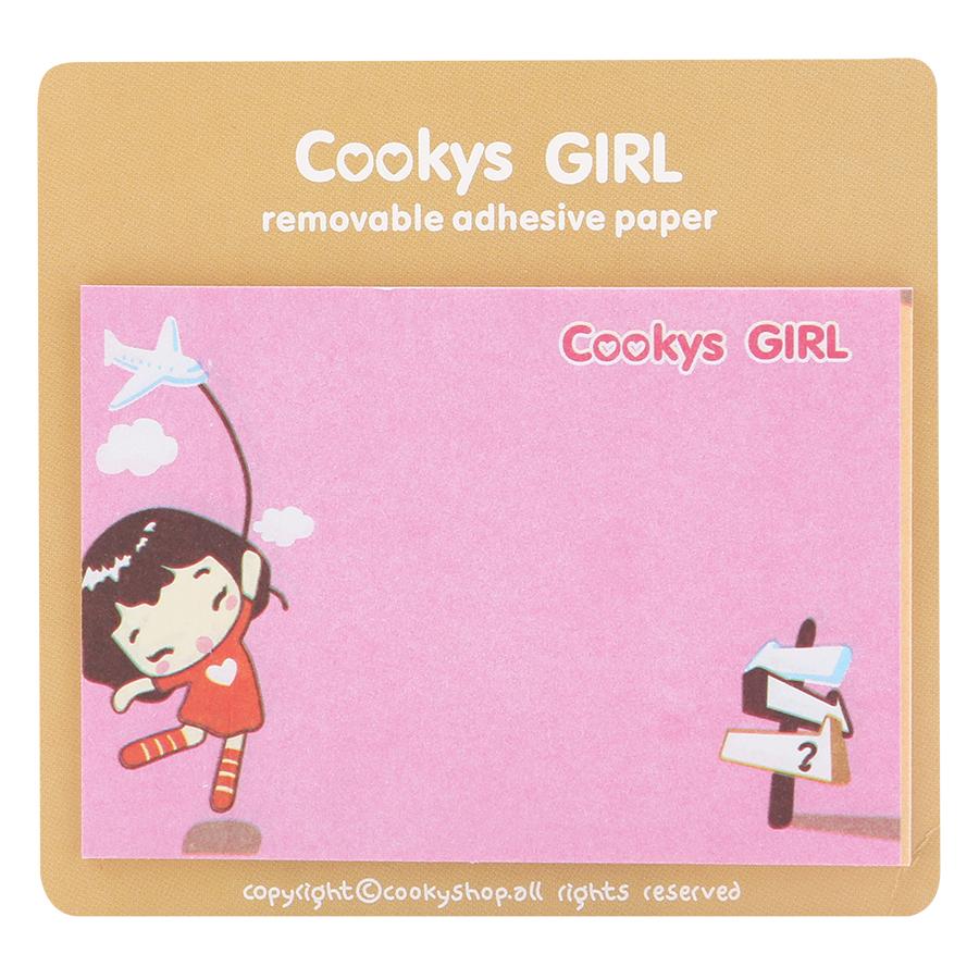 Giấy Note - Cookys Girl - Giao Ngẫu Nhiên Theo Chủ Đề (19 Tờ/ Xấp)