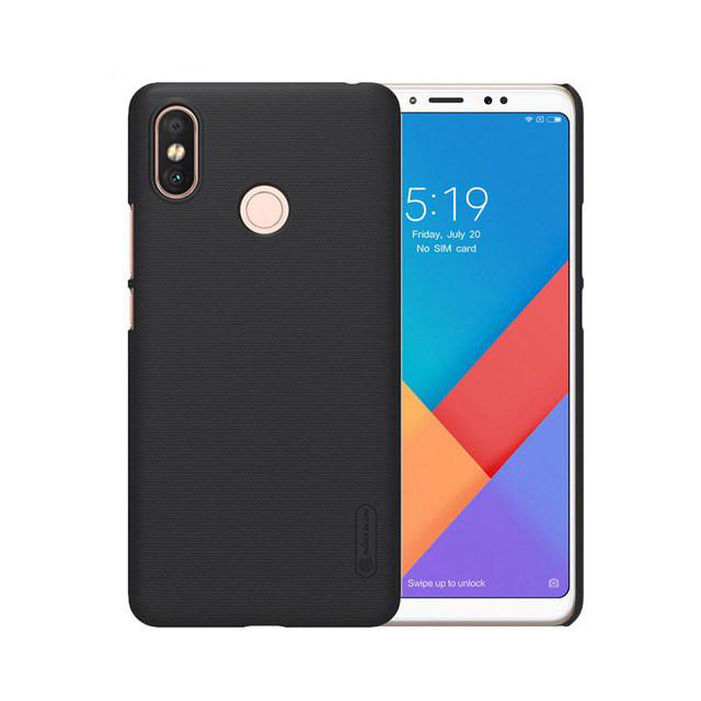 Ốp lưng sần Xiaomi Mi Max 3 Nillkin (Đính kèm Giá đỡ hoặc 1 miếng dán màn hình từ tính) - Hàng chính hãng