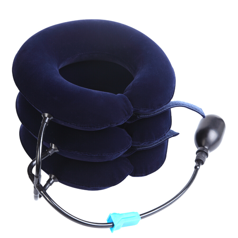 Kangzhu medical cervical fixation belt home latex neck care inflatable cervical traction neck neck pillow correction support physical therapy...