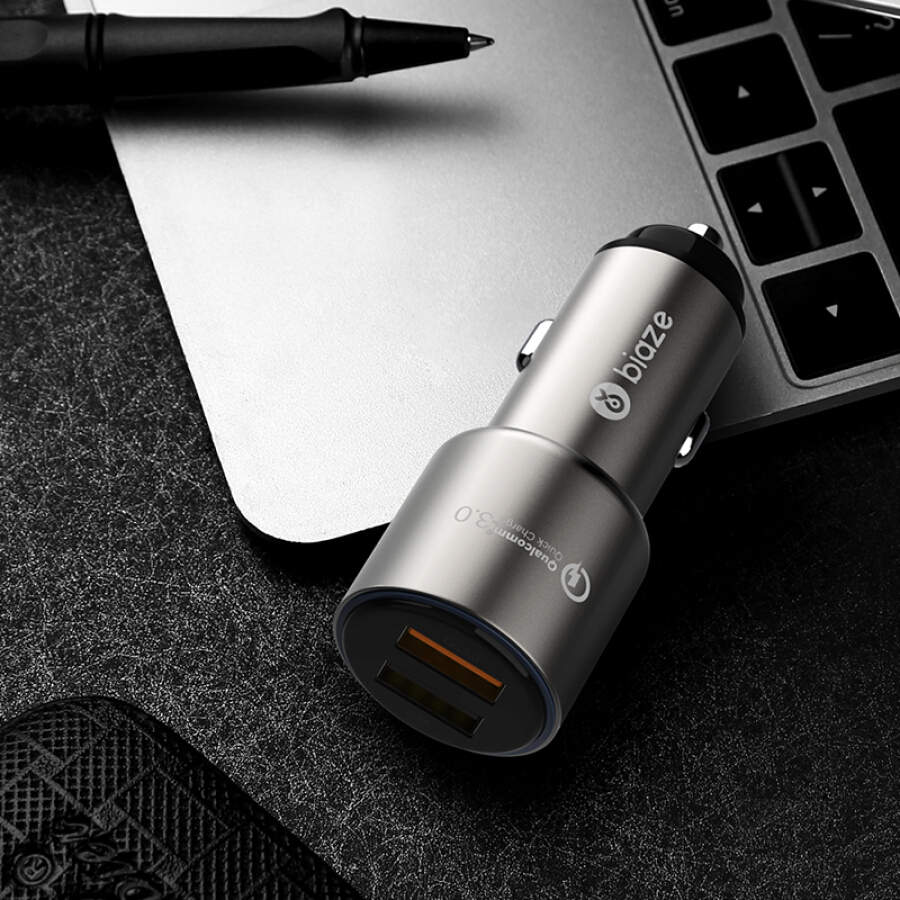 Sạc Trên Xe Hơi Hai Cổng USB 5.4A Biaz (BIAZE) MC15