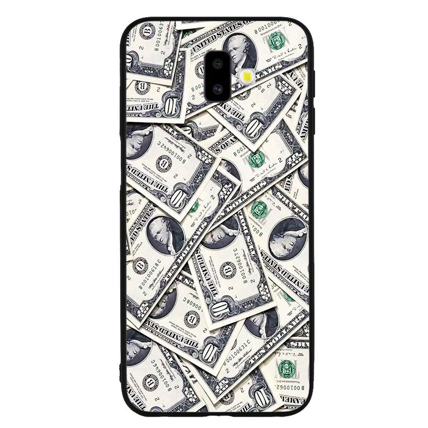 Ốp lưng nhựa cứng viền dẻo TPU cho điện thoại Samsung Galaxy J6 Plus - Dollar 02