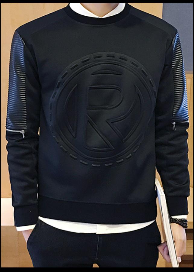Áo sweatshirt in nổi R dây kéo Mã: NT1766