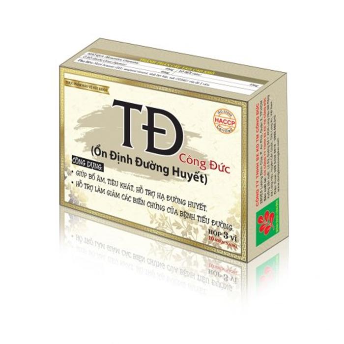 Thực phẩm chức năng dành cho người tiểu đường Ổn định đường huyết Công Đức (30 viên) - 1648955 , 3618807455953 , 62_11429668 , 90000 , Thuc-pham-chuc-nang-danh-cho-nguoi-tieu-duong-On-dinh-duong-huyet-Cong-Duc-30-vien-62_11429668 , tiki.vn , Thực phẩm chức năng dành cho người tiểu đường Ổn định đường huyết Công Đức (30 viên)