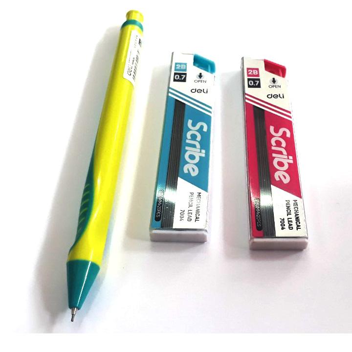Combo Bút chì kim đẹp U608 0.7mm + 2 Hộp chì kim 0.7mm