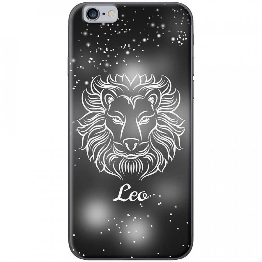 Ốp lưng  dành cho iPhone 6 Plus, iPhone 6s Plus mẫu Cung hoàng đạo Leo (đen)