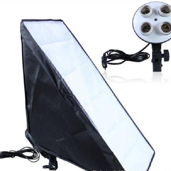 Đui đèn 4 bóng và Softbox 50x70cm