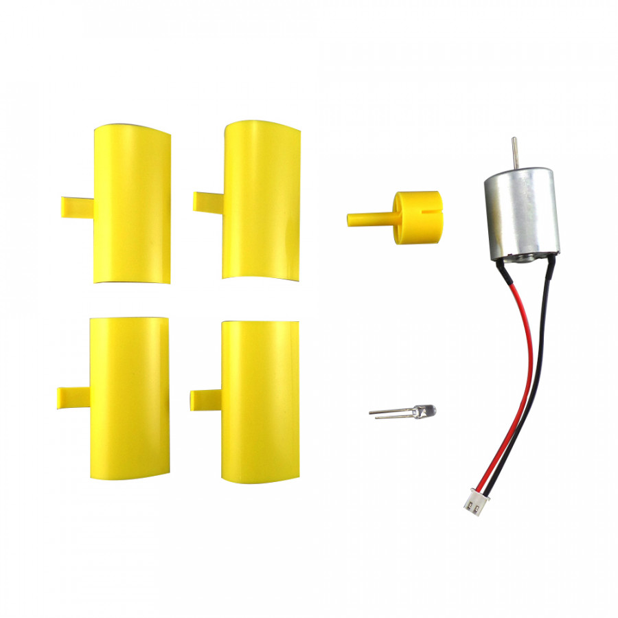 Turbines Blades Generator Miniature DC Motor Durable Yellow G020 Phone Charging Educational Tools