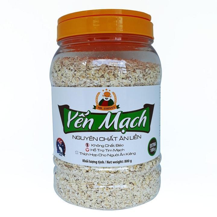 Yến mạch ăn liền (Instant oats) MR JOHNNY 800G - Tặng thêm 100G