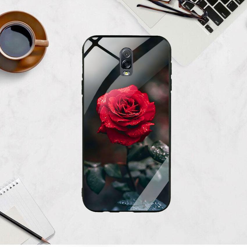 Ốp Lưng Kính Cường Lực cho điện thoại Samsung Galaxy J7 Plus -  0322 ROSE08