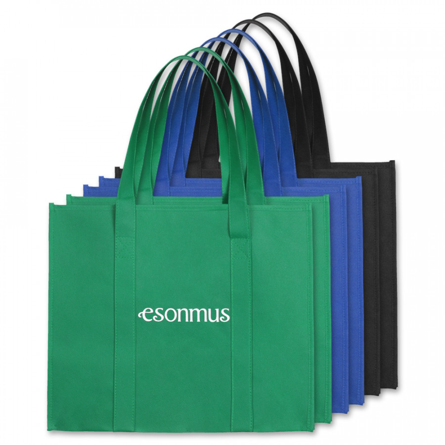 Esonmus 6Pcs/Set Multipurpose Reusable Non-Woven Large Grocery Tote Bags Foldable Shopping Bags Storage Handbags With
