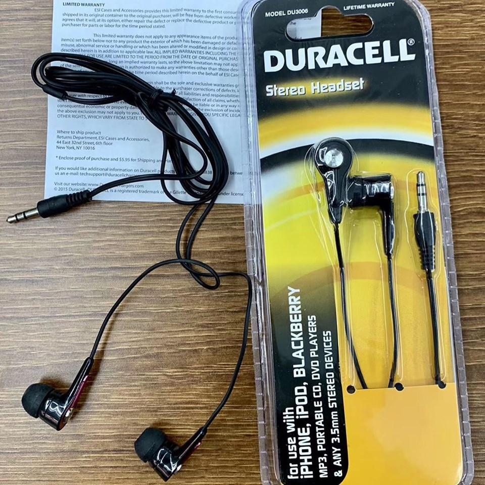Tai Nghe DURACELL 3006 Stereo Headset - Hàng Nhập Khẩu