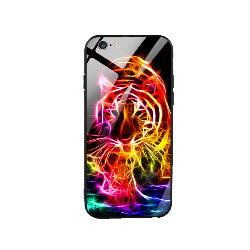 Ốp lưng kính cường lực cho điện thoại Iphone 6 Plus / 6s Plus - Tiger