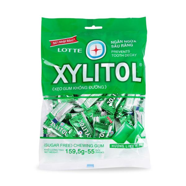 Kẹo Gum Lotte Xylitol Hương Lime Mint (159.5g)