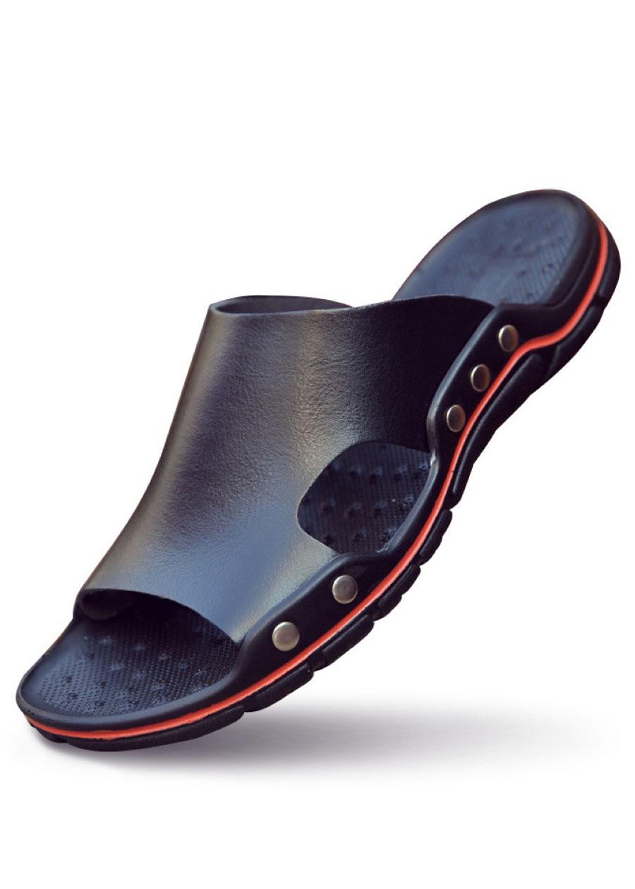 Giày sandal, dép quai ngang, dép lê nam big size cỡ lớn - DL001