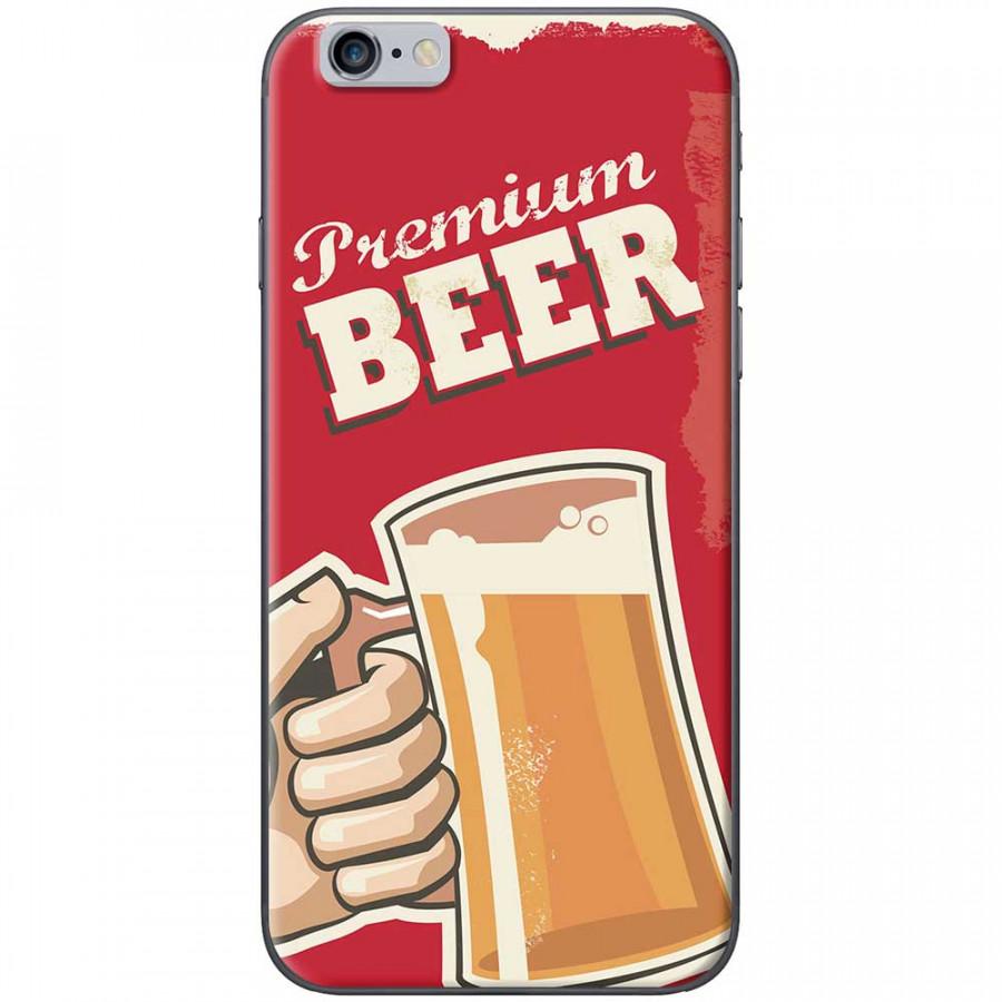 Ốp lưng dành cho iPhone 6 Plus, iPhone 6S Plus mẫu Ly bia nền đỏ