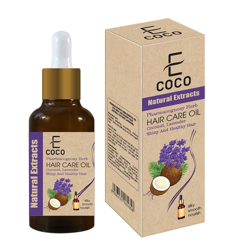 Tinh dầu thảo dược dưỡng tóc Ecoco khỏe đẹp bóng mượt (dừa, oải hương tự nhiên) 30g