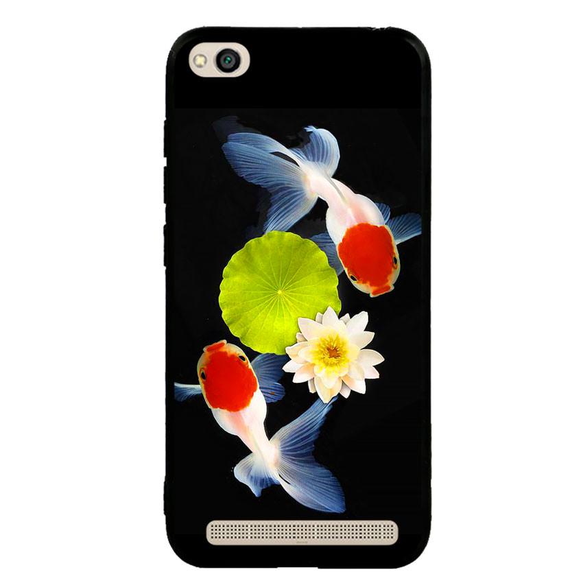 Ốp lưng nhựa cứng viền dẻo TPU cho điện thoại Xiaomi Redmi 5A - Cá Koi 04