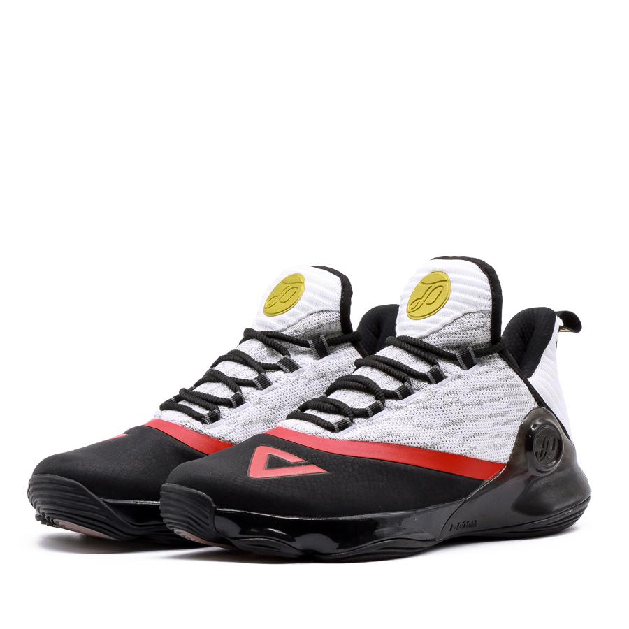 Giày bóng rổ PEAK Tony Parker VI E83323A - Đen Trắng Đỏ