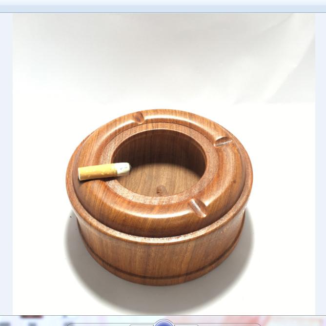 Gạt tàn thuốc lá gỗ hương tiện nguyên khối trơn siêu đẹp - ảnh thật