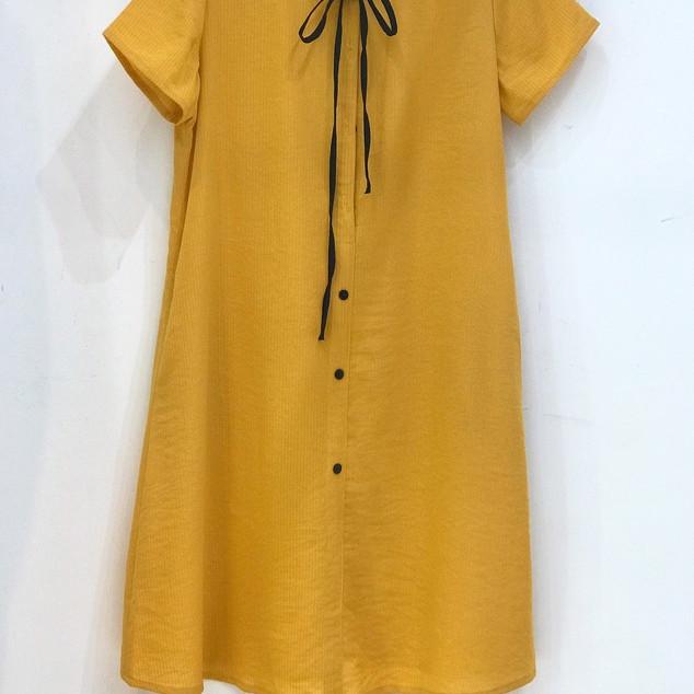 Đầm bầu thiết kế Mumshop VKE037 tặng kèm áo chip mở cúc cho bé ti