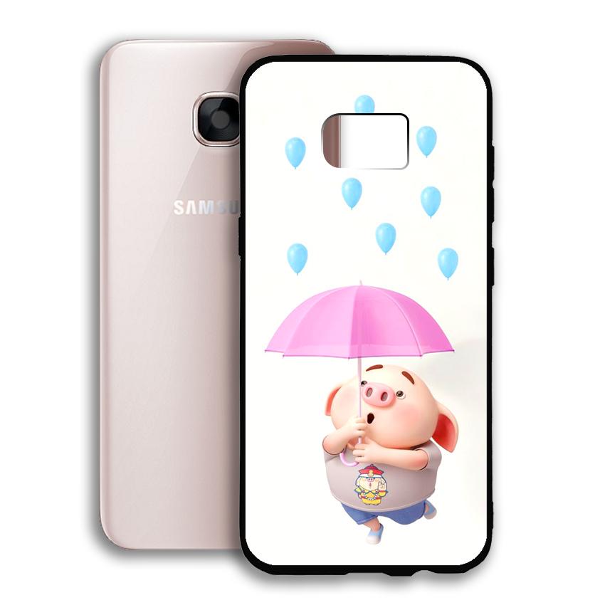 Ốp lưng viền TPU cho điện thoại Samsung Galaxy S7 - 02047 0523 PIG26 - Hàng Chính Hãng