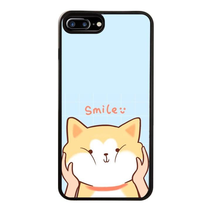 Ốp Lưng Kính Cường Lực Dành Cho Điện Thoại iPhone 7 Plus / 8 Plus Smile