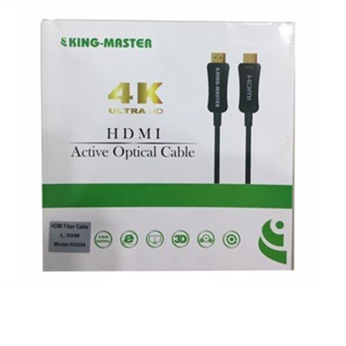 CÁP HDMI Kingmaster 2.0 ( 50m) Active Optical KH 259, CÁP HDMI 50M CHUẨN 2.0 CÁP QUANG-HÀNG CHÍNH HÃNG