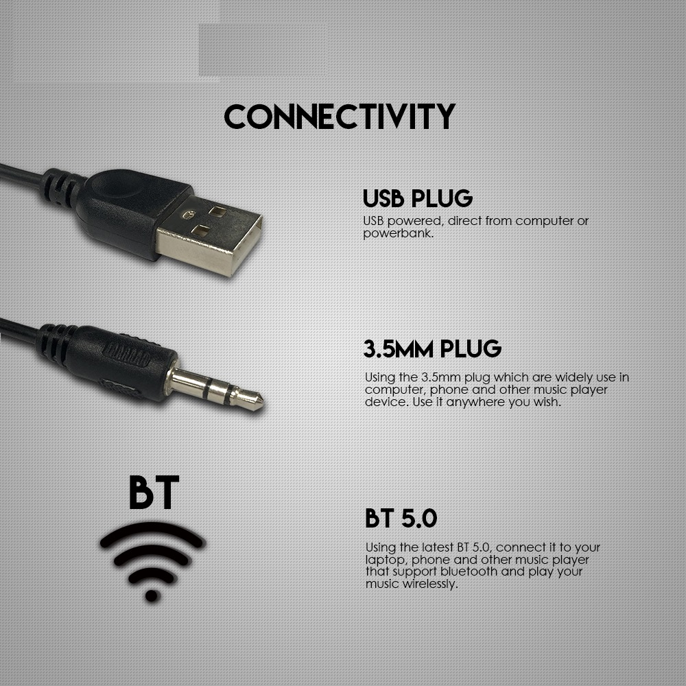 Loa vi tính Fantech GS301 TRIFECTA hỗ trợ led RGB 6 chế độ, kết nối Bluetooth và 3.5mm - Hàng chính hãng