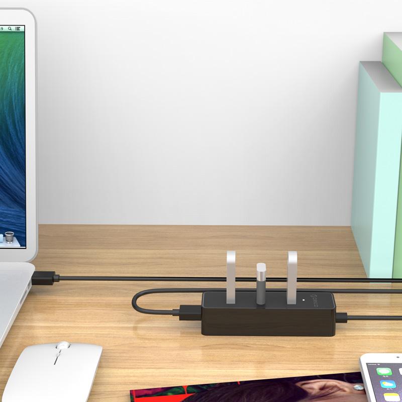Bộ chia USB HUB 4 cổng USB 3.0 Orico W5PH4 - Hàng nhập khẩu