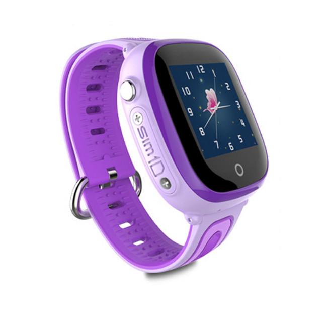 Đồng hồ thông minh định vị trẻ em DF31G (Tím) - tặng vòng tay Ruby