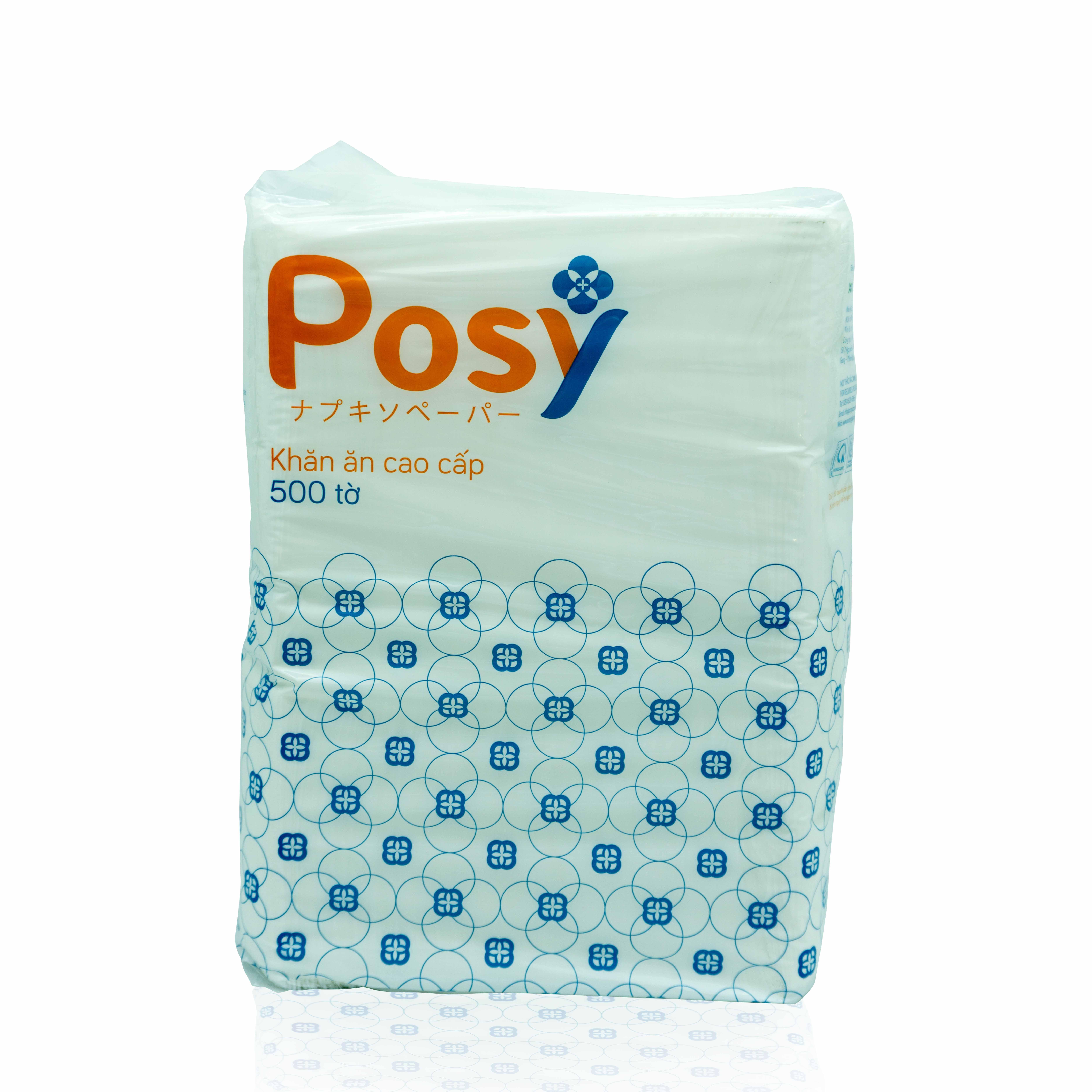 Khăn Giấy Ăn Posy Premium 330x330mm 500 Tờ /Gói - Siêu Tiết Kiệm