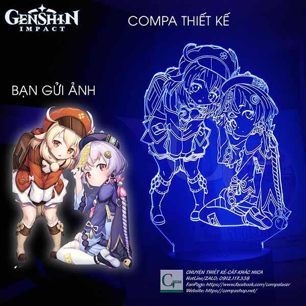 Đèn ngủ Genshin Impact Klee x QiQi Type 3