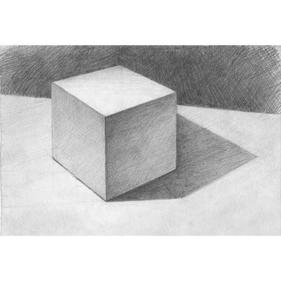 Tượng thạch cao. Tượng thạch cao ôn thi khối V-H. Khối vuông cơ bản. Khối vuông luyện thi