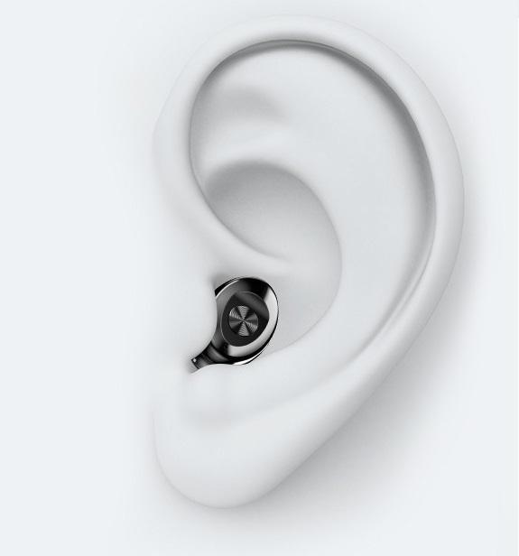 Tai nghe nhét tai nhỏ gọn đèn LED TWS bluetooth 5.0 lọc âm thanh sống động AURU-G8 Hàng Chính Hãng ĐEN